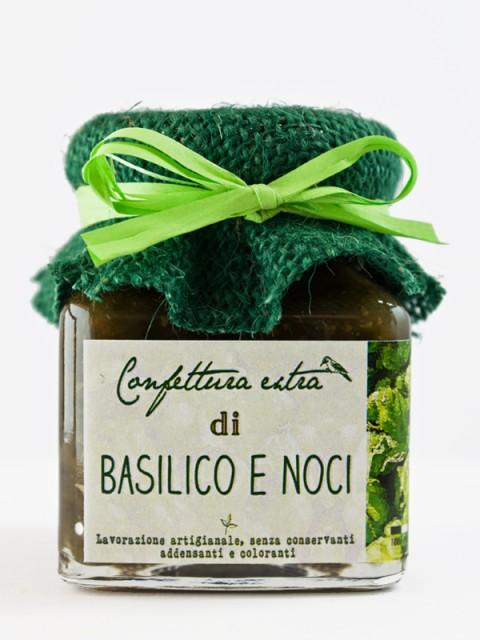 confettura extra di basilico e noci 110g