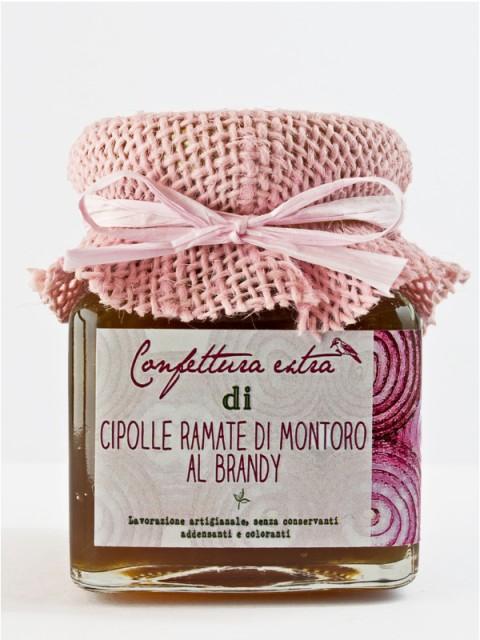 Confettura extra di cipolle ramate di Montoro al brandy 110g