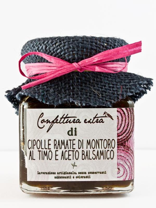 Confettura extra cipolle ramate di Montoro al timo e aceto balsamico 110g poggio del picchio