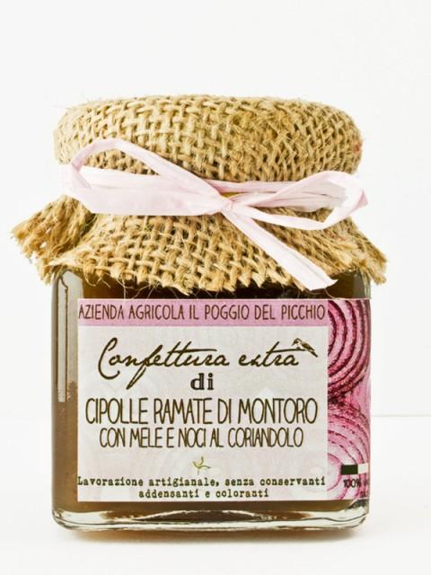 Confettura extra di cipolle ramate di Montoro con mele e noci al coriandolo - Il Poggio del Picchio