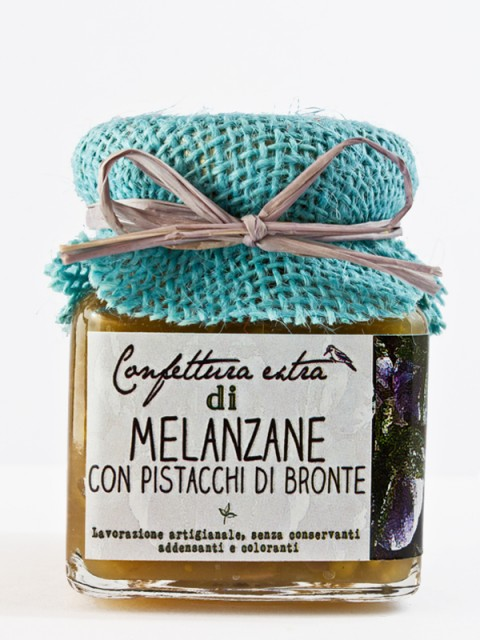 confettura extra di melanzane con pistacchi di Bronte