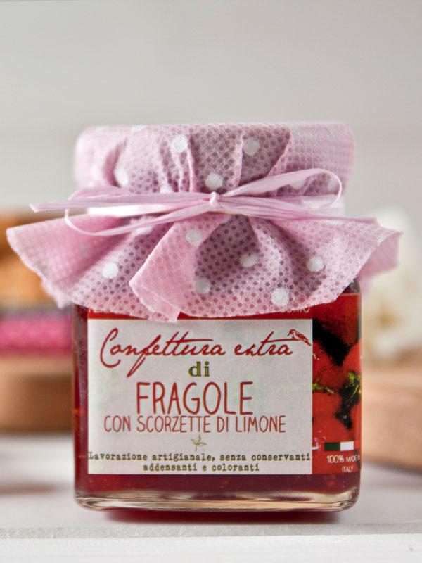 confettura artigianale extra di fragole - Il Poggio del Picchio