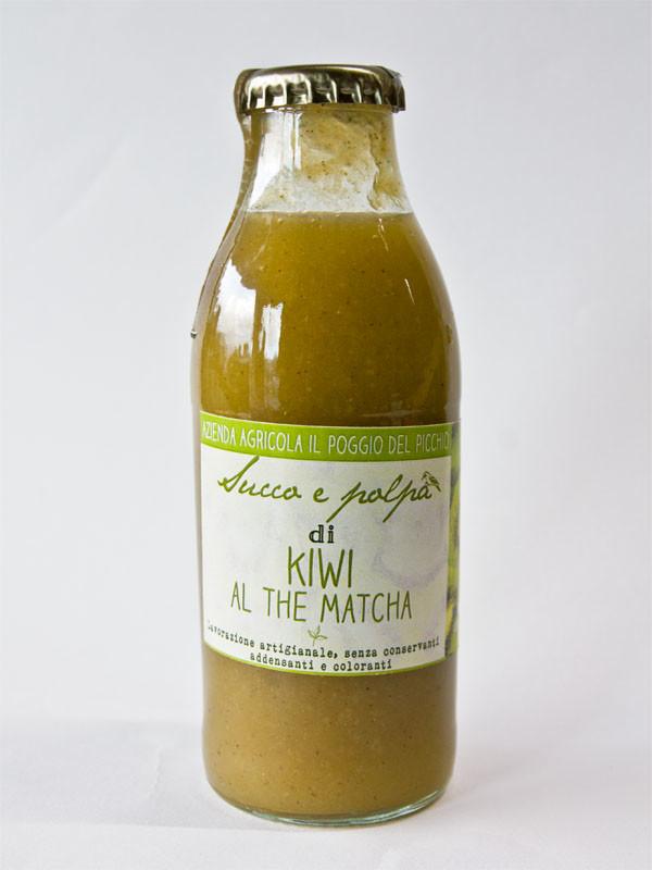 succo e polpa di kiwi al the matcha_ Il Poggio del Picchio