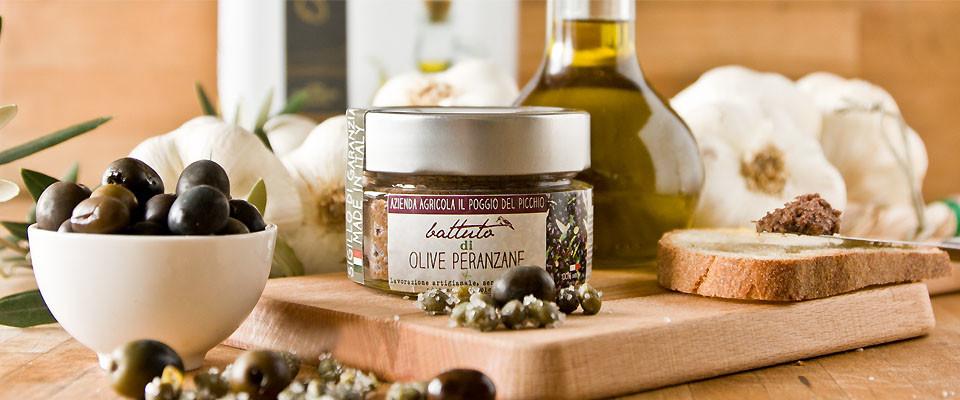 slide battuto di olive peranzane - Il Poggio del picchio