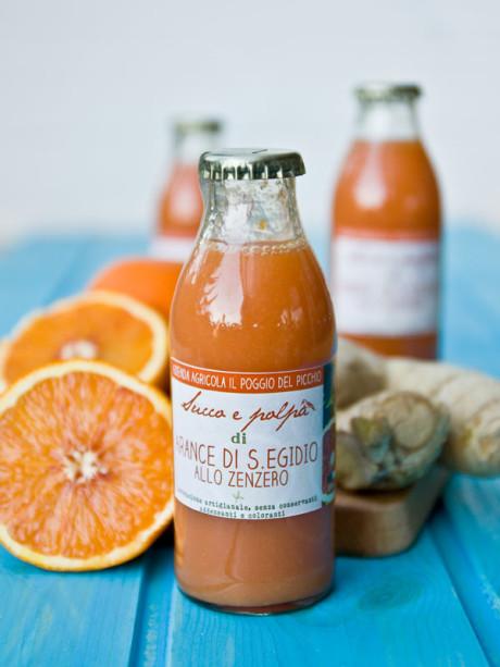 succo e polpa di arancia allo zenzero _g- Il Poggio del Picchio
