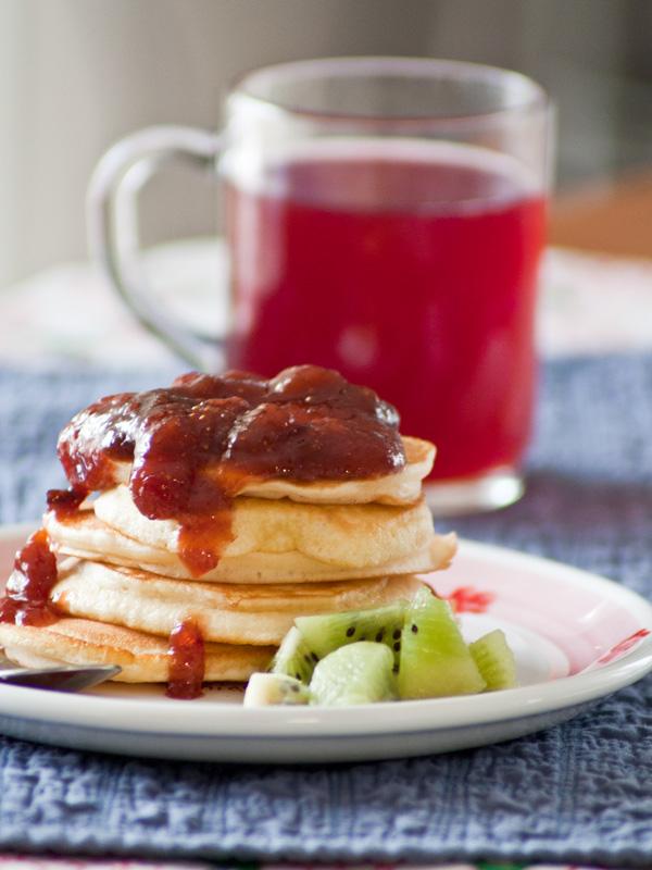 pancakes ai futti di bosco | le ricette del Poggio del Picchio