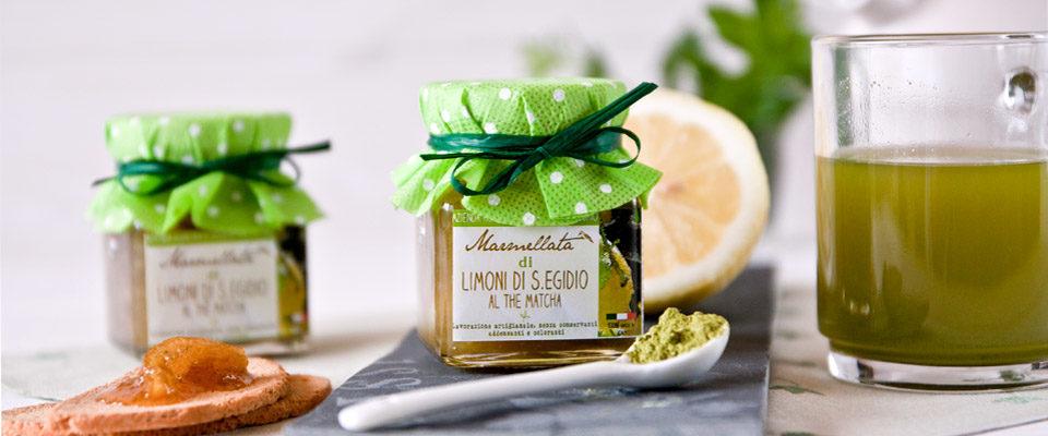 slidemarmellata di limoni al the matcha - Il Poggio del Picchio