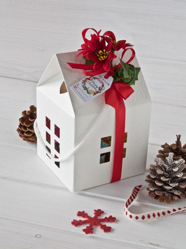 confezione regalo Natale 2017 casetta bianca 4 vasetti - Il Poggio del Picchio