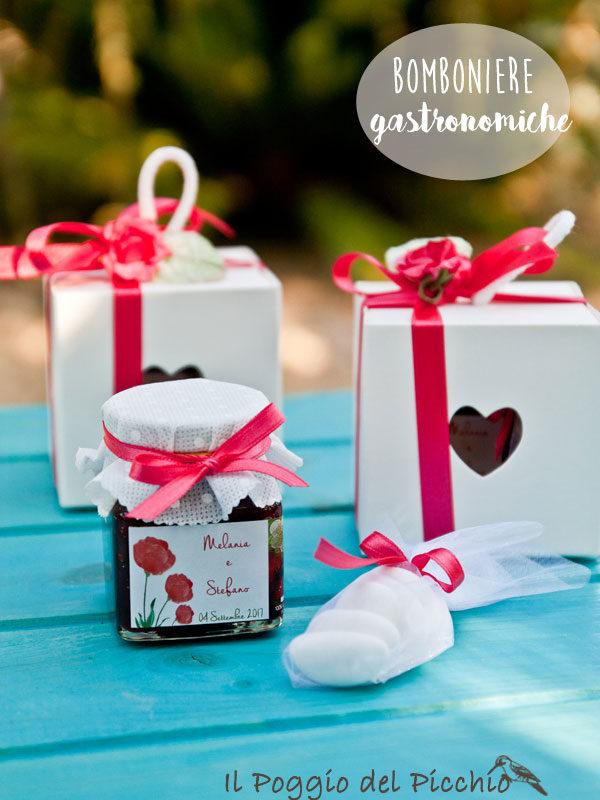 bomboniera gastronomica matrimonio scatolina cuore confettura artigianale - Il Poggio del Picchio