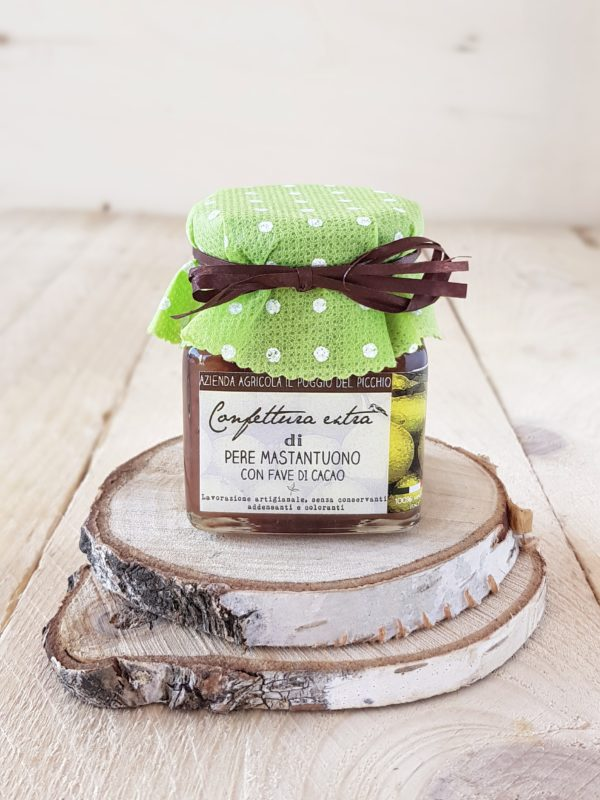 confettura artigianale extra di pere mastantuono con fave di cacao - frutto dimenticato | Il Poggio del Picchio