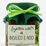 confettura artigianale extra di basilico e noci 110g