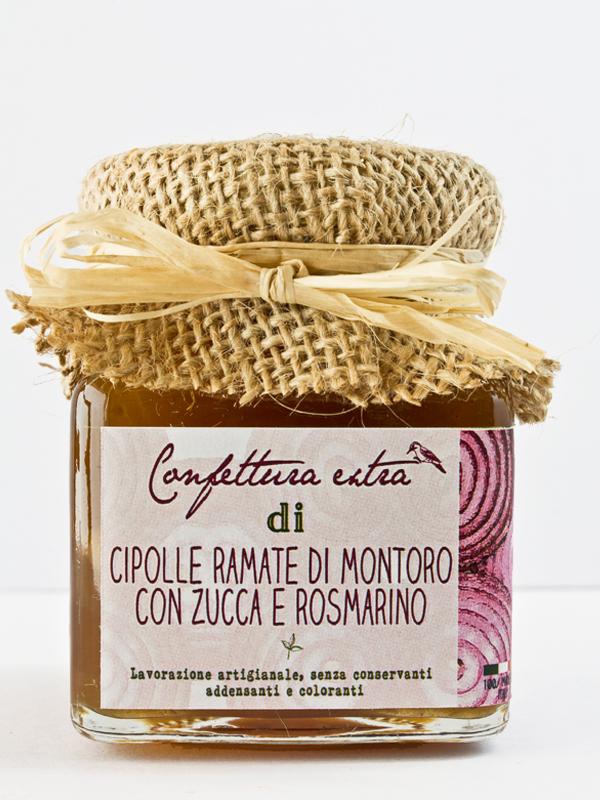 Confettura extra di cipolle ramate di Montoro con zucca e rosmarino