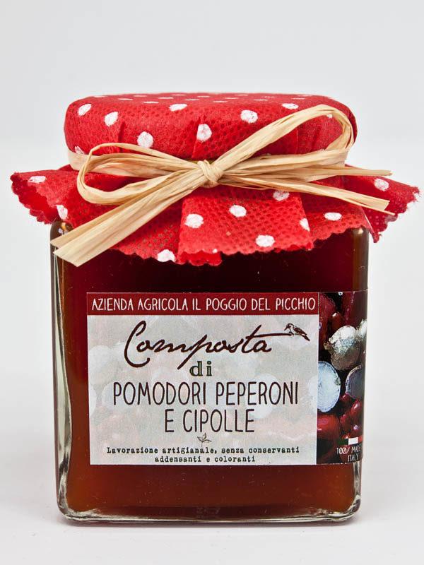 composta pomodori peperoni e cipolle - Il Poggio del Picchio