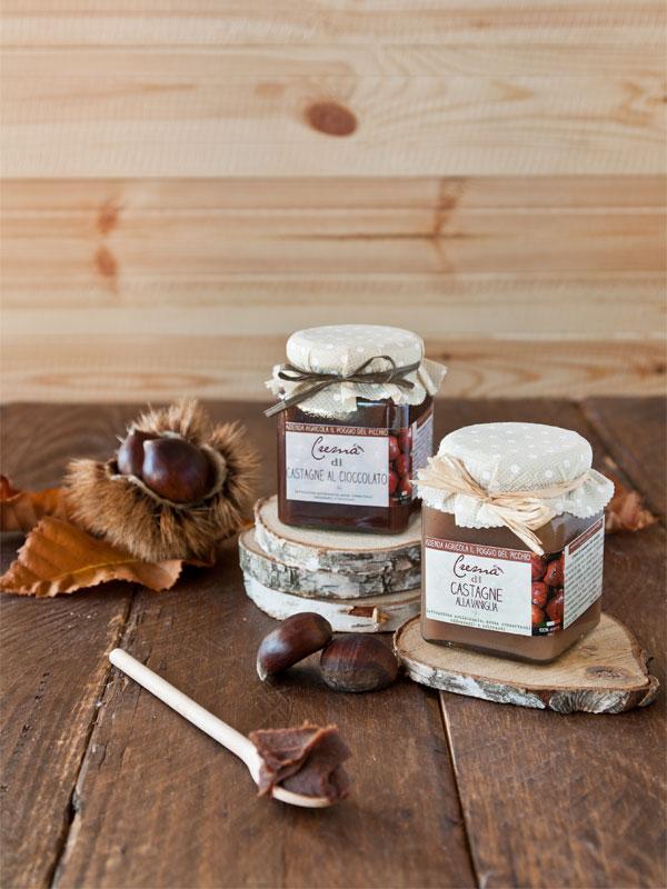 crema di castagne artigianale - Il Poggio del Picchio