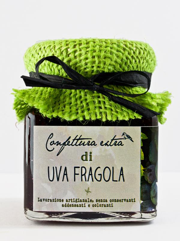 Confettura extra di uva fragola nera il poggio del picchio for Sognare uva fragola