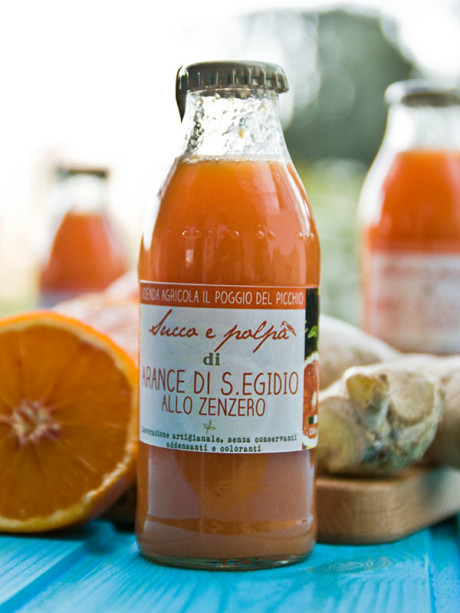 succo e polpa di arancia allo zenzero – Il Poggio del Picchio