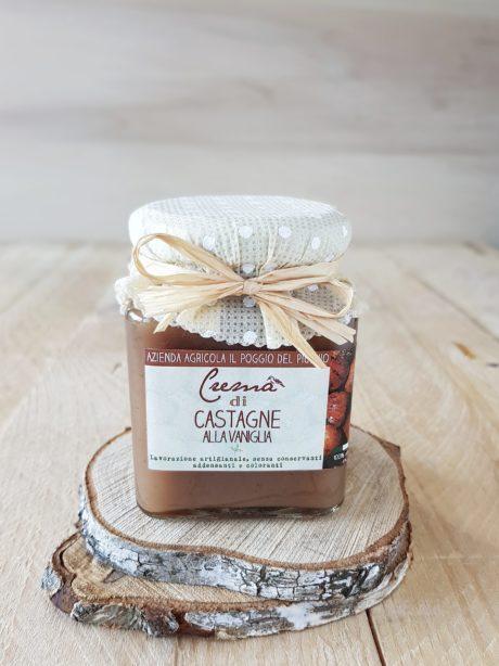 crema di castagne artigianale alla vaniglia