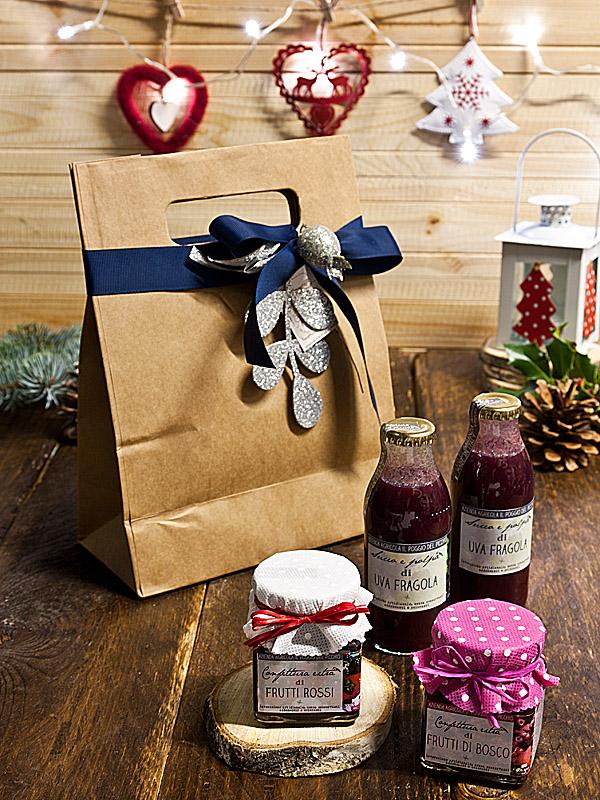 Il Poggio del Picchio- idea regalo Natale marmellata artigianale colazione per 2