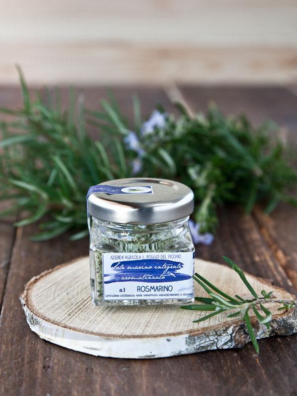 sale marino integrale artigianale aromatizzato al rosmarino Il Poggio del Picchio