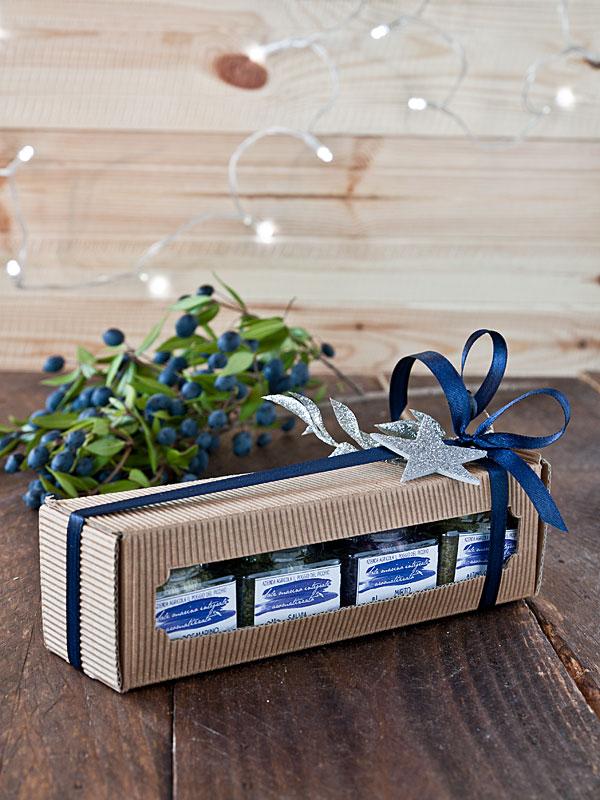 Confezione regalo Natale 2017 sali artigianali aromatizzati - Il Poggio del Picchio