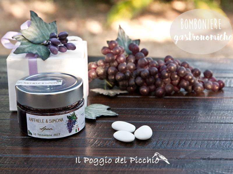 bomboniera gastronomica matrimonio gelatina artigianale di vino aglianico - Il Poggio del Picchio
