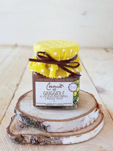 crema artigianale di giuggiole al cioccolato extra fondente e nocciole tostate | Il Poggio del Picchio